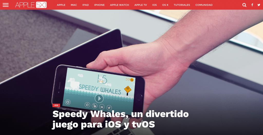 Speedy Whales Apple 5x1