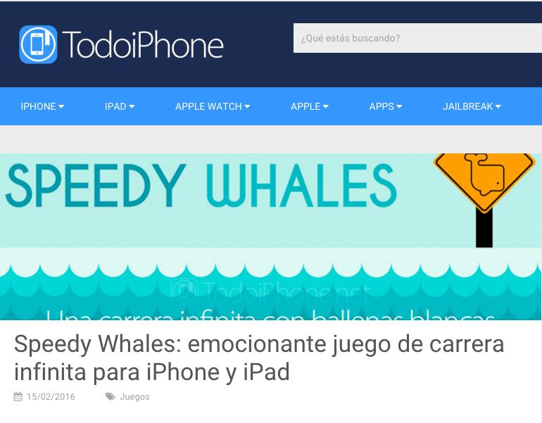 Speedy Whales - Todo iPhone